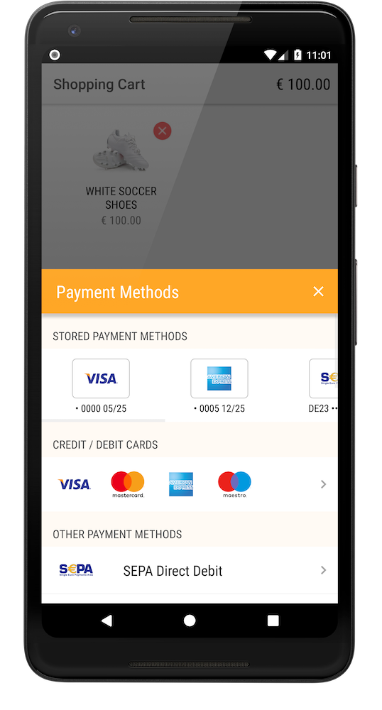 Stored payment methods